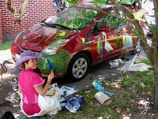 funny modified car painting
