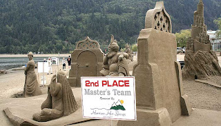 nice collection of sand sculpture
