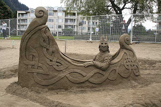 attraction in beach - the sand castle competition