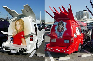 extreme modified vans in japan