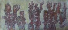 La procesión de los guerreros.