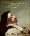 Santa Teresa de Jesús ruega por todos nosotros al Señor para que seamos firmes en el camino .