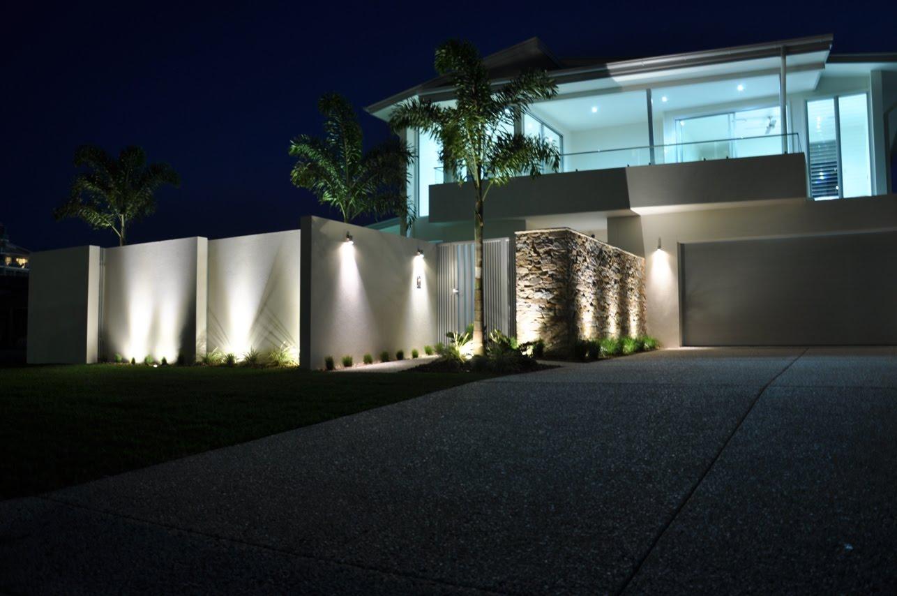 House at Night Spotlight