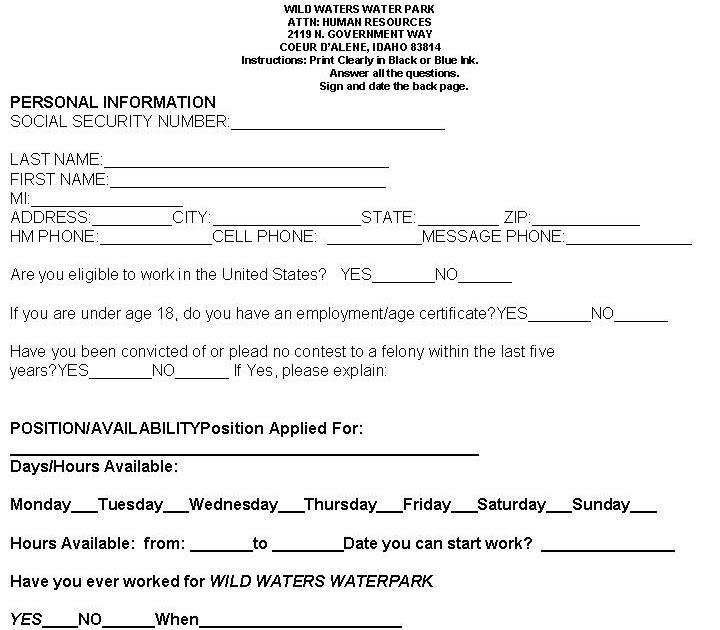 Canadian Tire Job Application Form Daily Cash Job