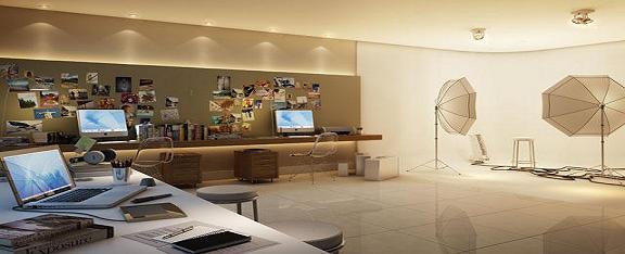 Estúdio Fotográfico  Perspectiva+ilustrada+Sala+comercial