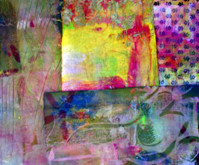 Love of collage messing round with fabric fiber arts and for Using fabric paint on glass