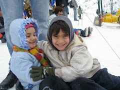 Adam & Noam sledding