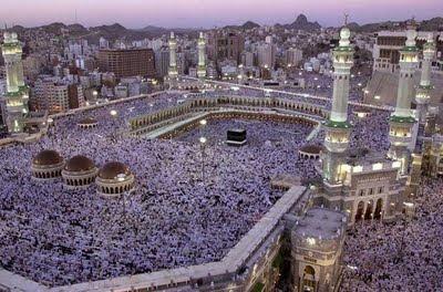 Pilgrims undertaking Haj