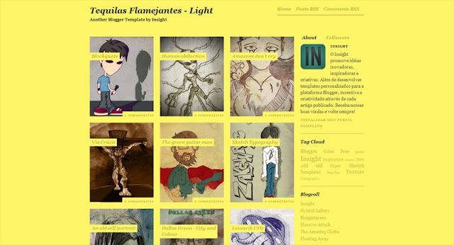 Tequilas Flamejantes light Photography Blogger Templates