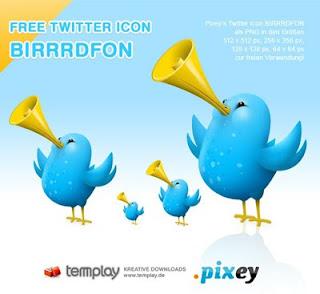 Pixey Birdfon Twitter Icons