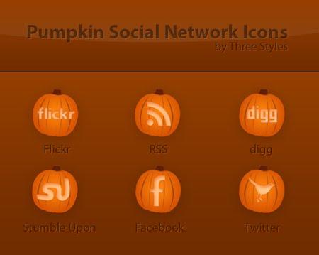 Free Pumpkin Halloween Social Icons