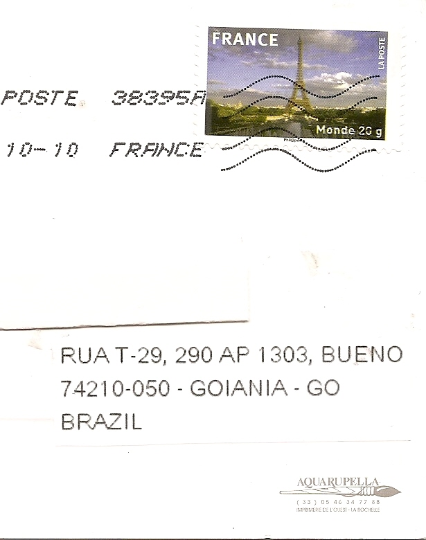 Kalife S Stamp Collection Lighthouse Postcard From France