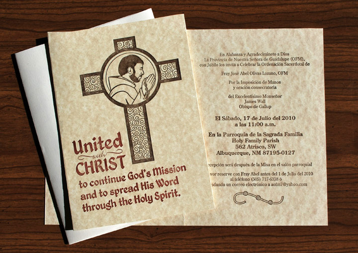 Letterpresto Ordination Invitations