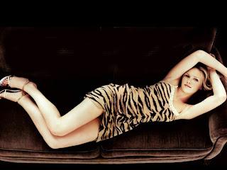 Beautiful Model Kirsten Wearing Leopard