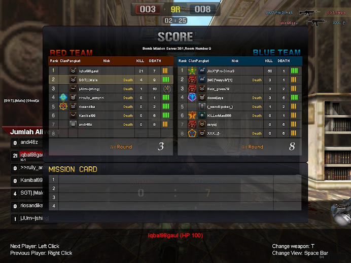 CHEATER POINT BLANK