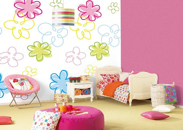6 lovely wall design ideas for kid 39 s roominterior decorating home design sweet home - Room kids decoration ...