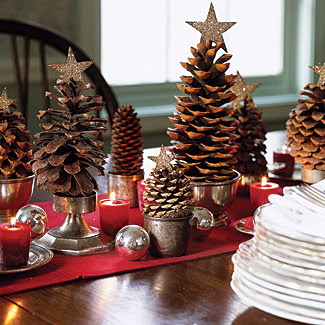 Let the holiday decorating begin on pinterest Homemade christmas decorations using pine cones