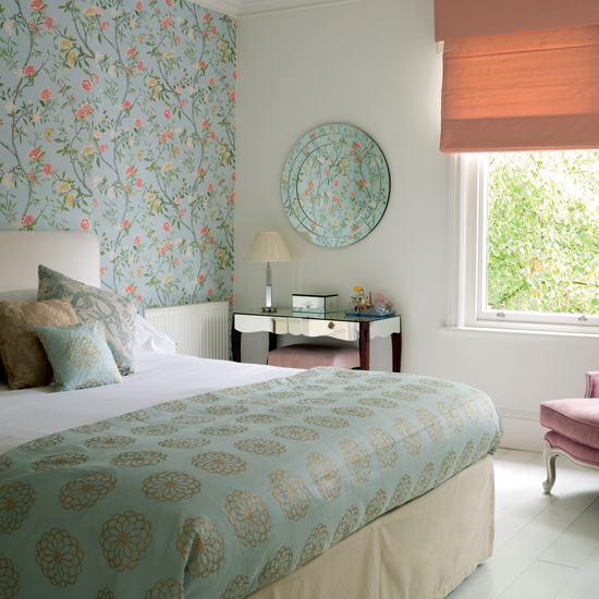 Bedroom Walls Magnificent With Wallpaper One Wall in Bedroom Pictures
