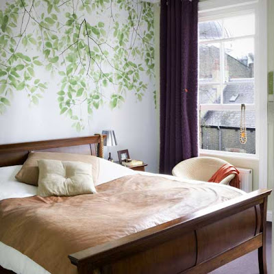 Bedroom Wall Design on The Bedroom Wall Design Is Inspired By Nature And The Leaves And