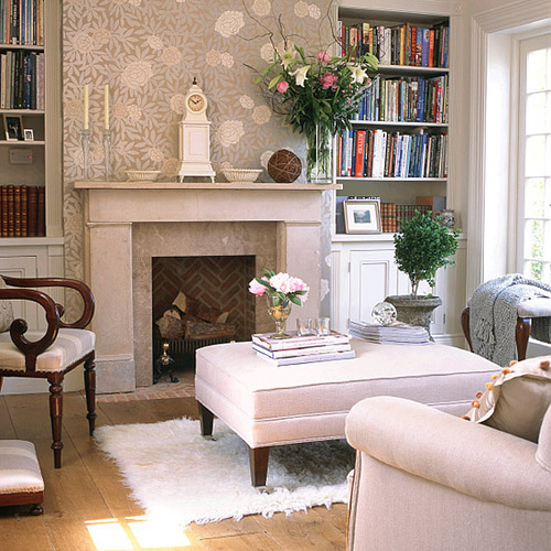 Living room 6 beautiful designs with fireplace interior for Beautiful sitting rooms