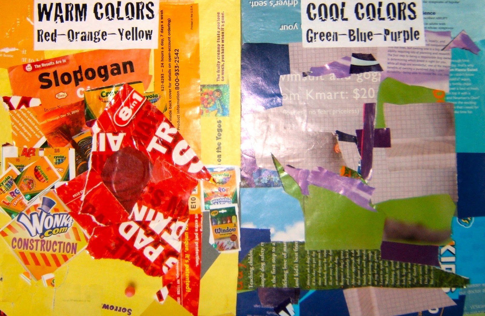 Magazine color collage