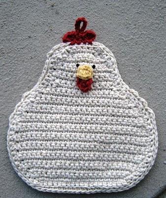 Crochet Chicken Potholder Pattern Crochet Patterns
