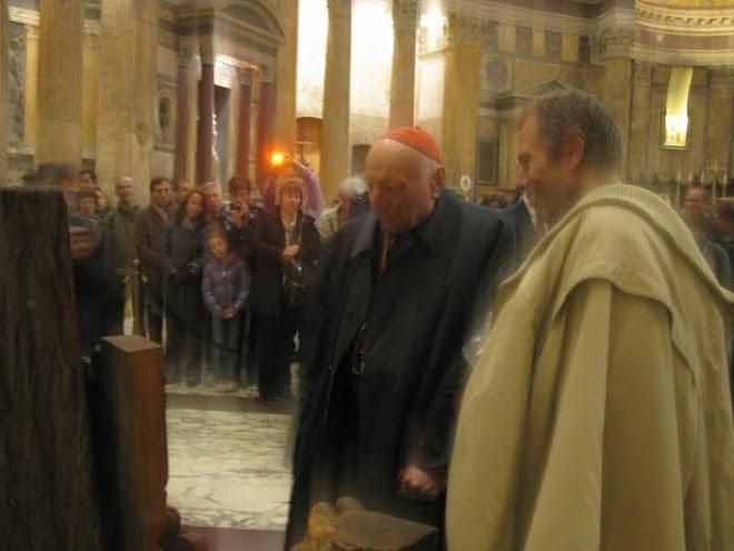 Slavnostní inaugurace betlému v Pantheonu v Římě, prosinec 2009