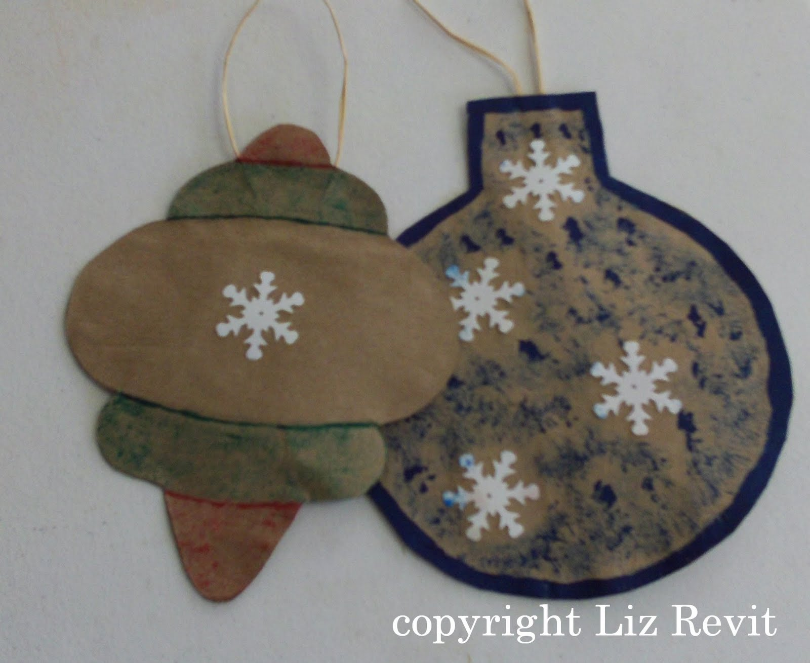 Brown Paper Bag Christmas Ornaments Recycled Brown Paper Bags
