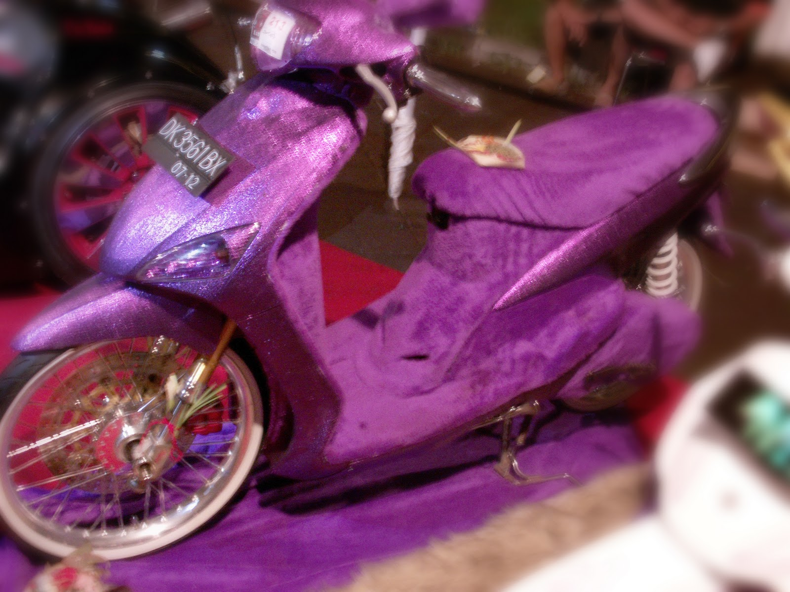 Modification Mio Sporty Purple Concept Bali All