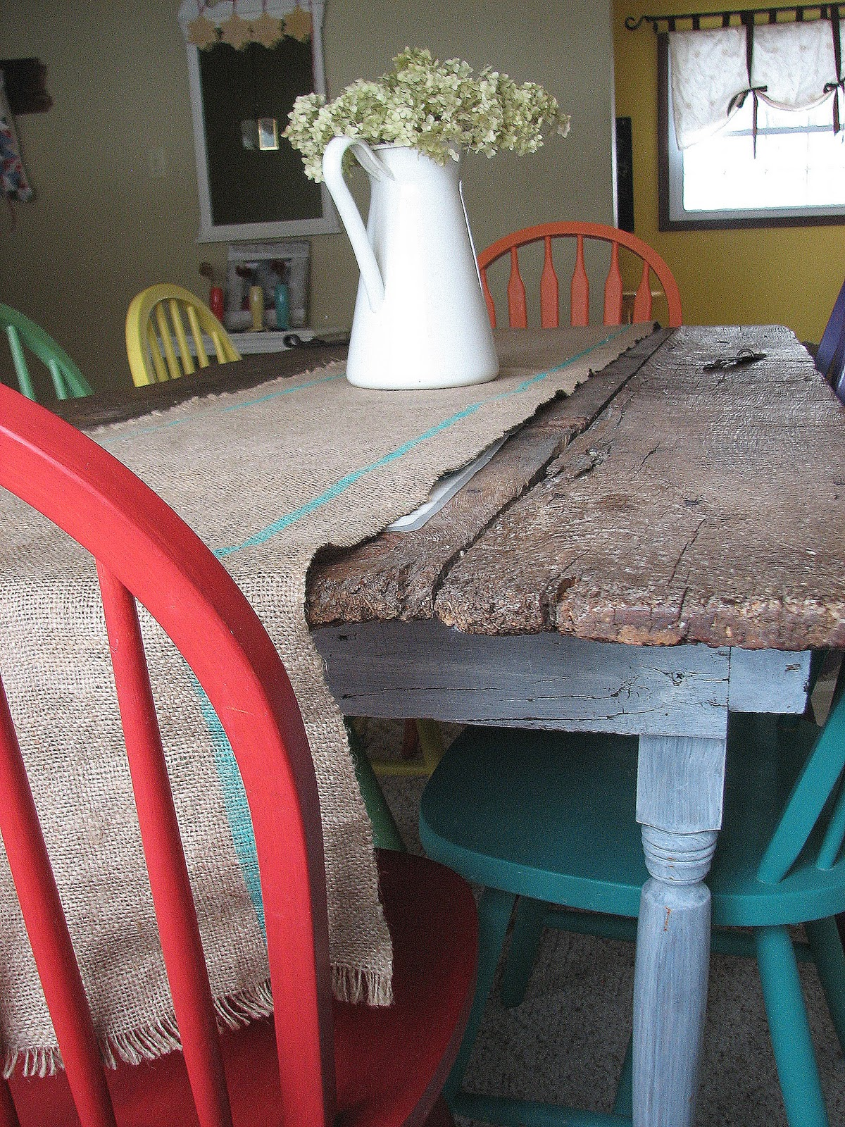 barn kitchen table old barn door recycled into kitchen table