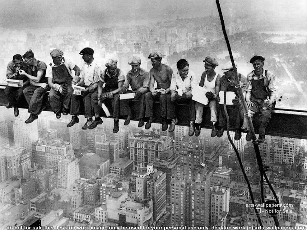new york history geschichte lunch atop a skyscraper. Black Bedroom Furniture Sets. Home Design Ideas