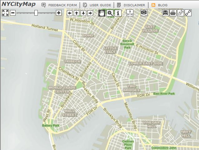 New York - History - Geschichte: NY City Map