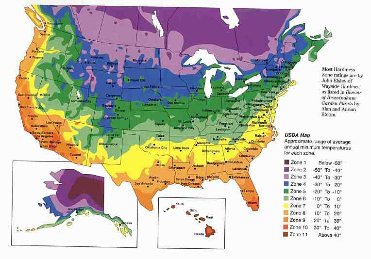 Plant Preview Summertime Heat Tolerance - Map of us growing zones