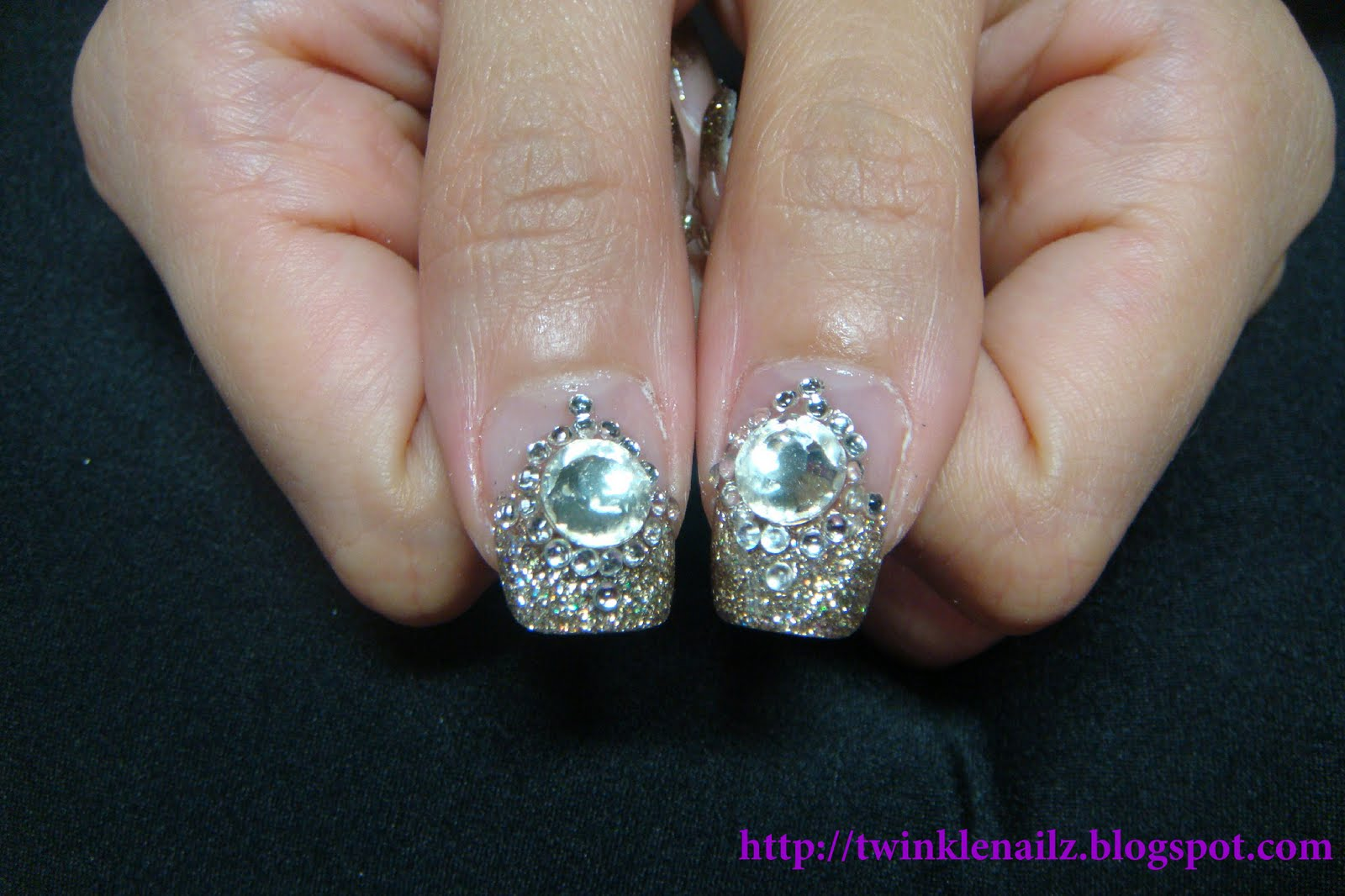 The Appealing Gold acrylic nail designs Photo