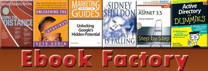 Ebooks Factory, AZ Ebooks, Ebooks, Dummies, XML Ebooks, XML,C Programming,Adobe ,Acounting
