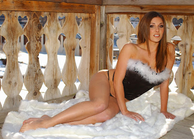 Lucy Pinder in Sexy Snow White Fashion Model Photo Shoot Session by Tim Merry Photography