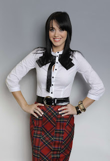 Katy Perry in Pretty School Uniform Costume Model Photoshoot Session