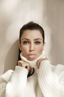 Kim Kardashian in Beautiful Snow White Sweater Fashion Model Photoshoot Session