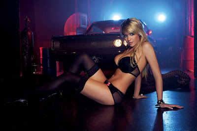 Gemma Atkinson in Fantastic Darkness Black Fashion Model Photo Shoot Session