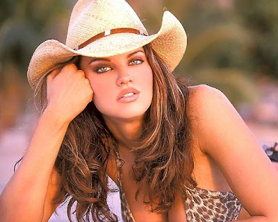 Dana Hamm Gorgeous Cowgirl in Bikini Gorgeous cowgirl Dana Hamm with straw ...