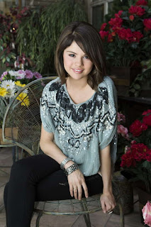 Selena Gomez in Wonderful Colorful Spring Season Flower House Photoshoot Session