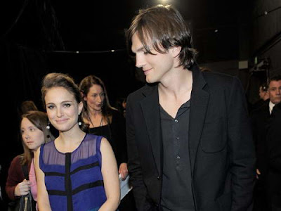 Natalie Portman in Violet Tiered Dress at 2011 People's Choice Awards