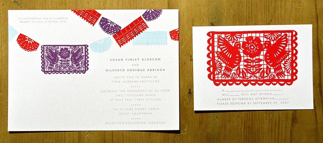 Wedding Dazed Pretty Papel Picado Invites