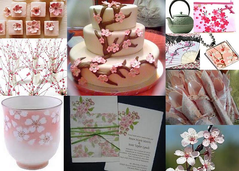 A Cherry Blossom Bridal Shower Credits cherry blossom tea cakes