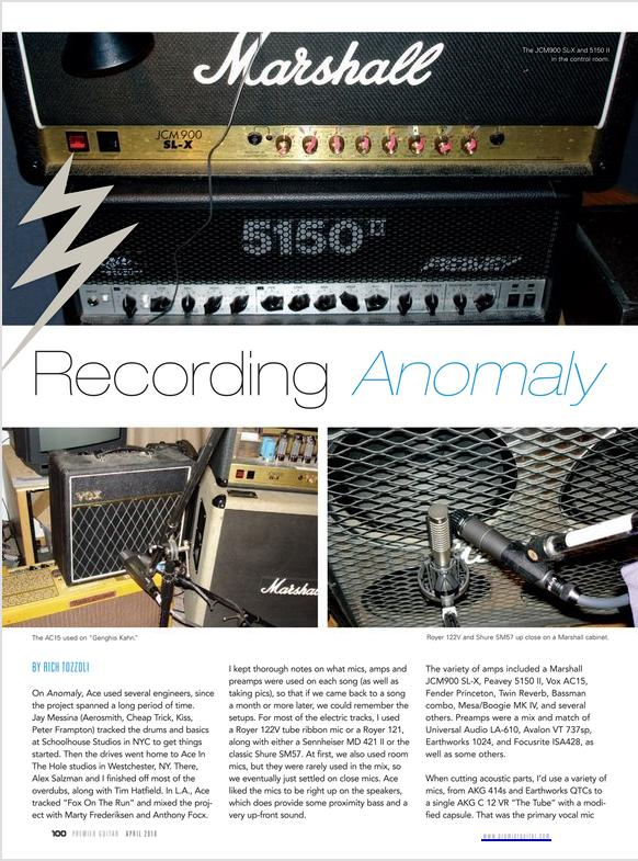 Ace Frehley Gear Recording Anomaly