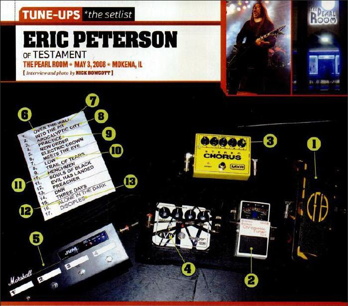 Eric Peterson pedalboard