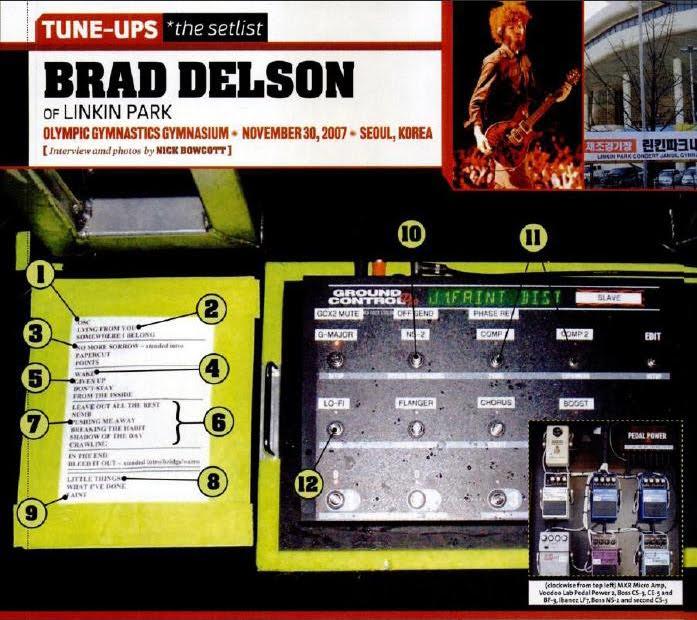 Brad Delson pedalboard