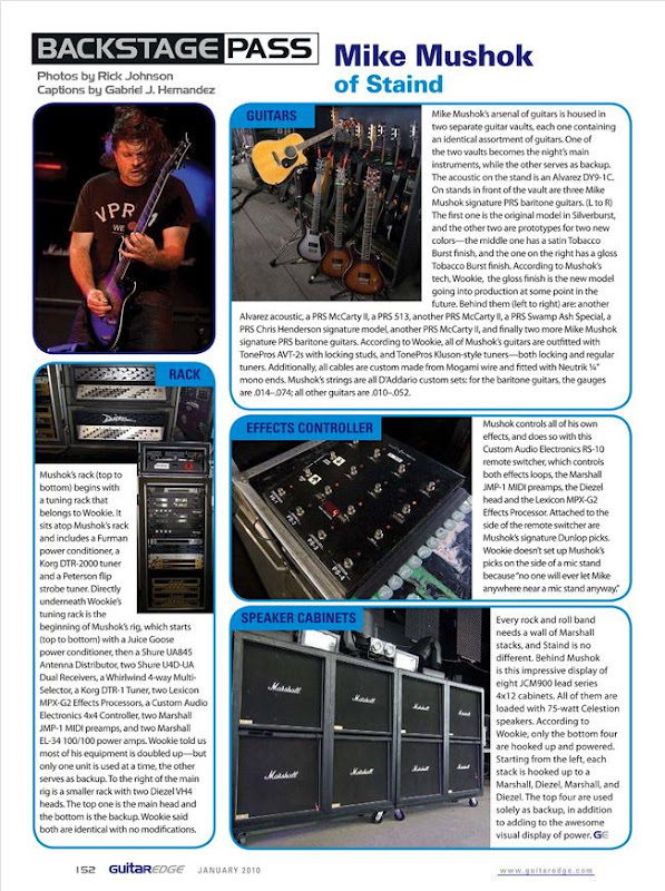 Mike Mushok's Guitar Rig