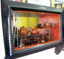teko cina + frame kotak klasik