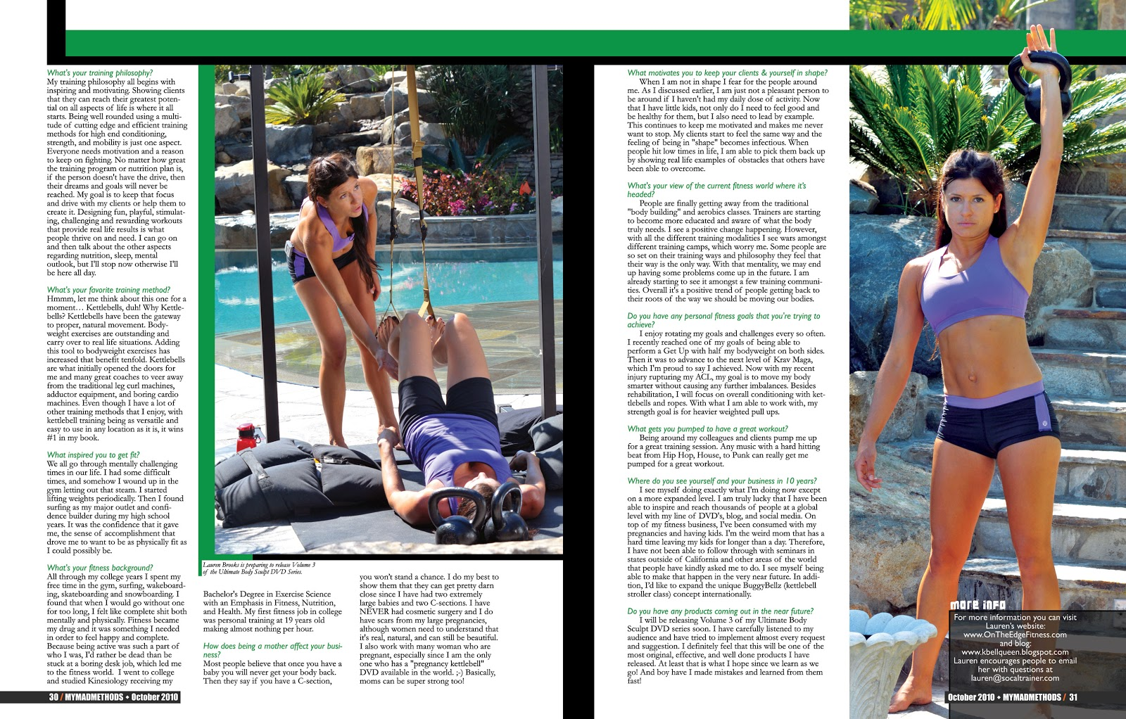 lauren brooks fitness lauren brooks interview in mymadmethods you can purchase hard copies of this magazine online at mymadmethods com click on the image to this little interview